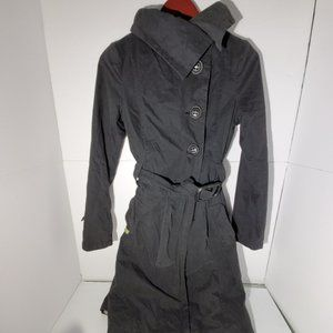 Soia & Kyo black belted trench coat jacket XS